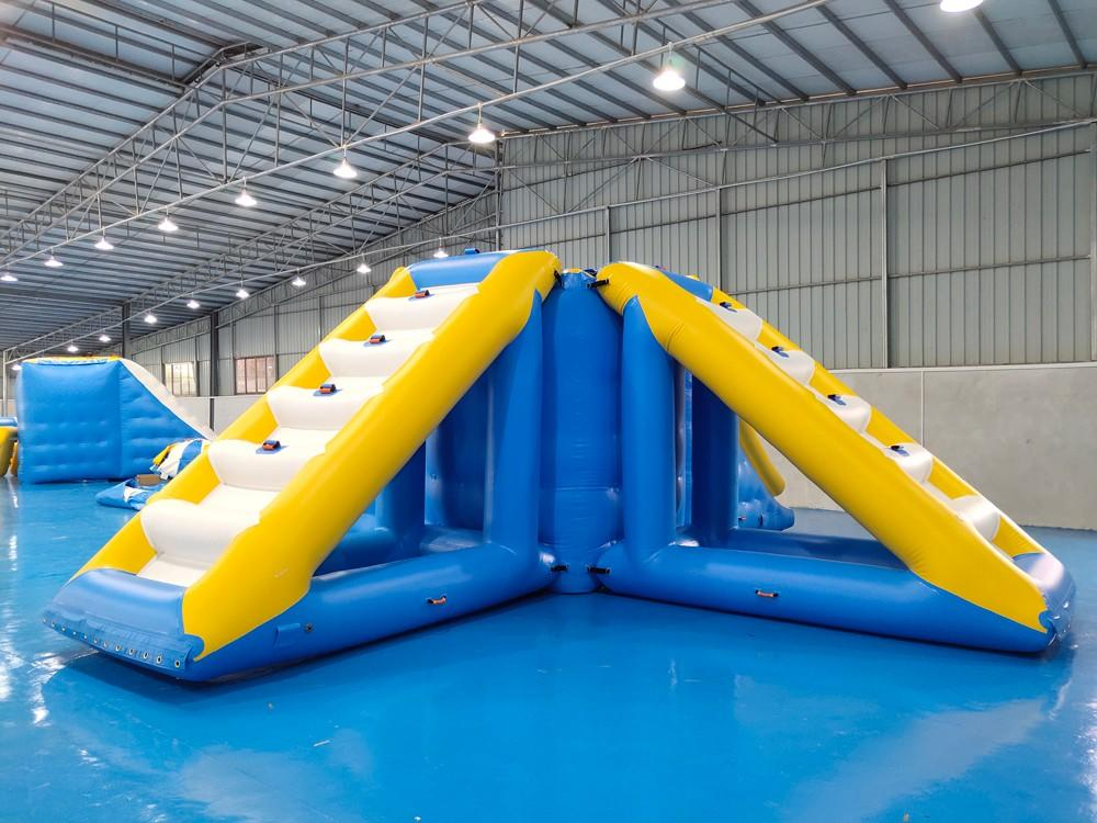 Bouncia -Best Inflatable Floating Slide Tower With 09mm Pvc Tarpaulin Water Obstacle-1