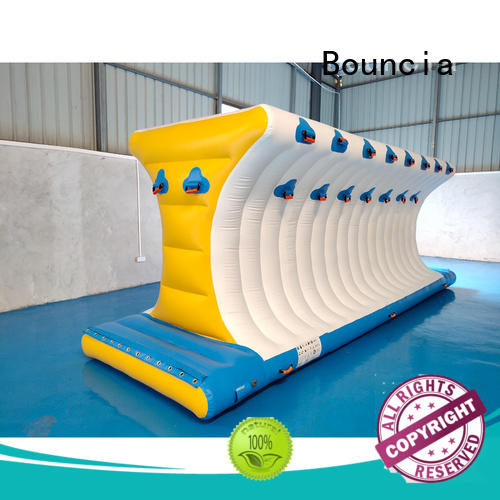 Wholesale wave inflatable factory bridge Bouncia Brand