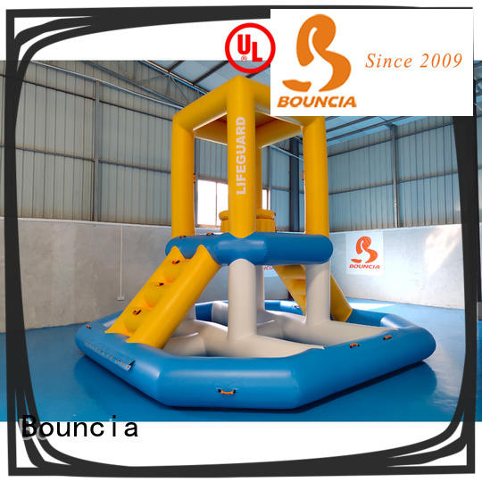 stable outdoor inflatable water park guard tower customized for pool