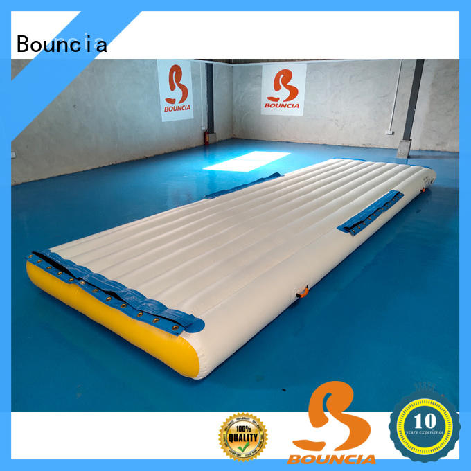 Bouncia certificated lake inflatables directly sale for pool