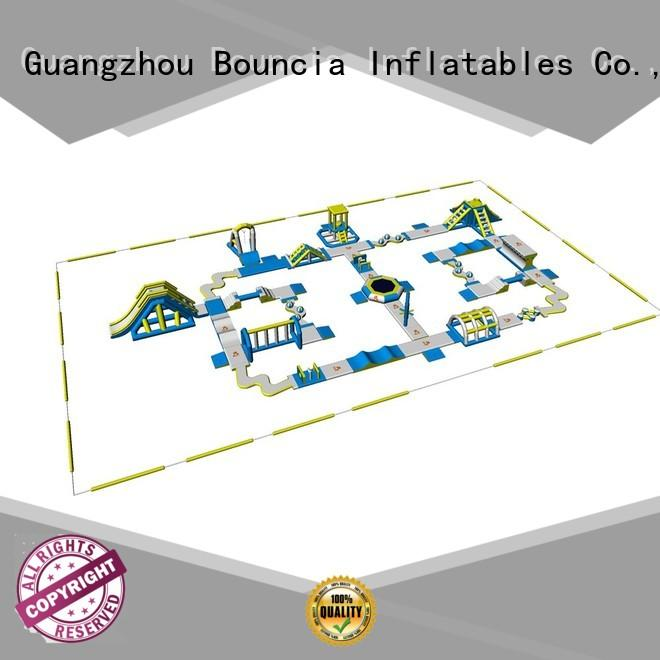 water open blow up water park design Bouncia company