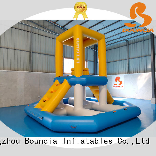 floating inflatable obstacles trampoline from China for kids