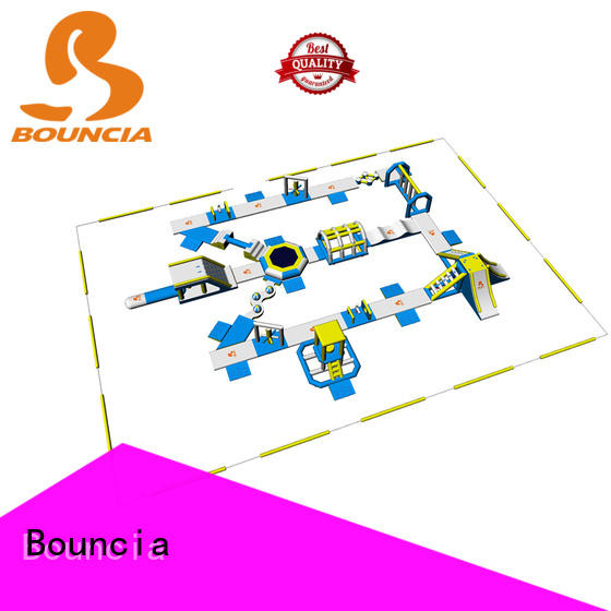 Bouncia splash inflatable water slide park wholesale for adults