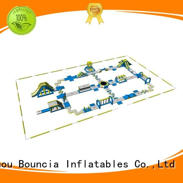 adults trampoline funny blow up water park Bouncia Brand company