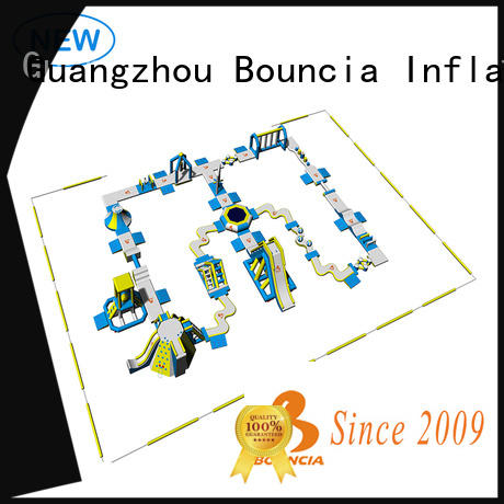 Bouncia 100 people inflatable water sports supplier for lake