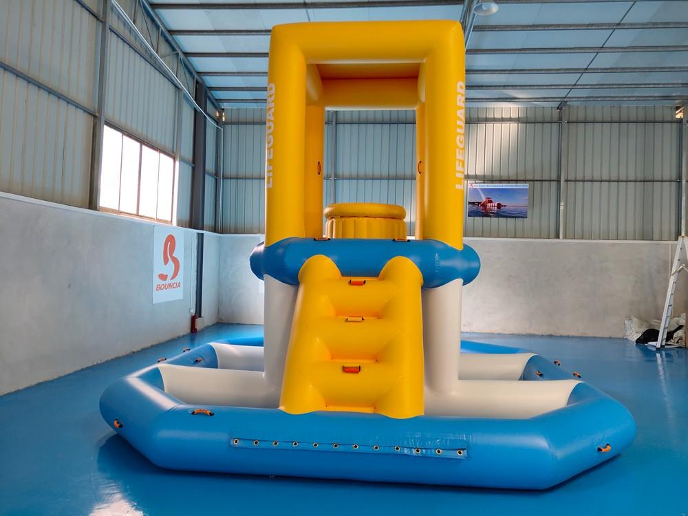 Bouncia -Find Pvc Tarpaulin Guard Tower For Sea Kids Inflatable Water Slide