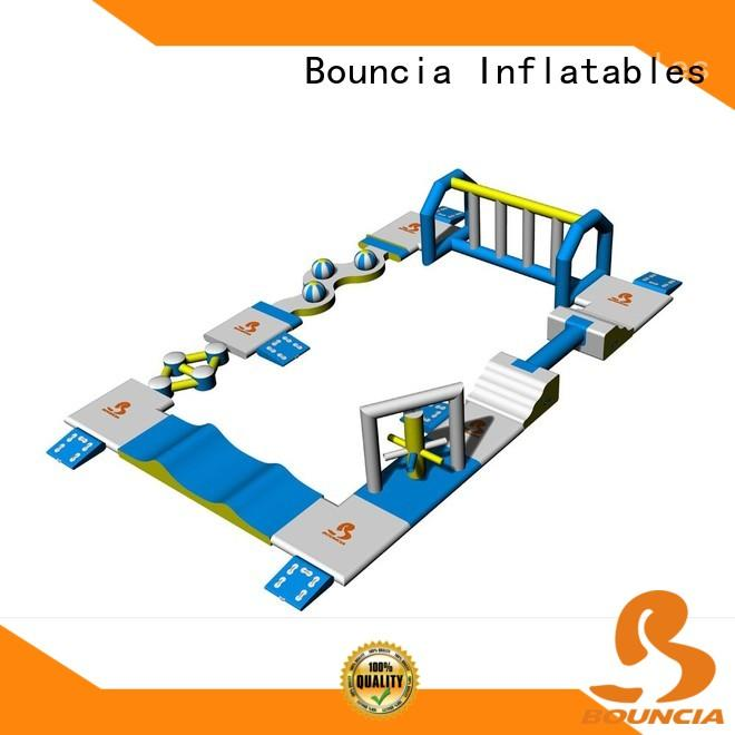 Bouncia certificated inflatable water slide manufacturer for lake