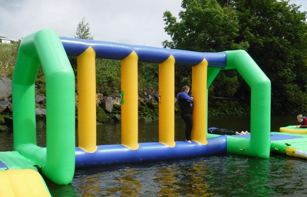 awesome aqua fun park jumping platform customized for kids-3