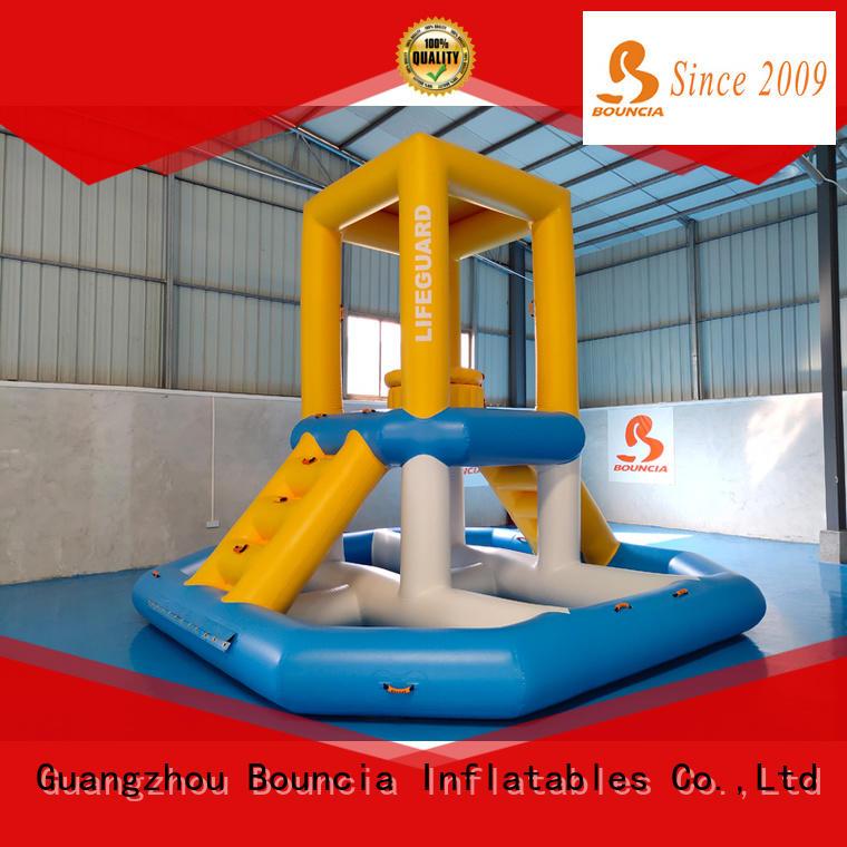 Bouncia floating inflatable water slide for sale manufacturer for kids