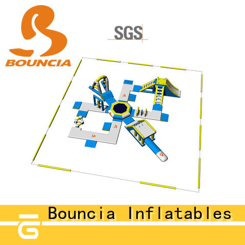 Bouncia commercial floating water playground supplier for kids