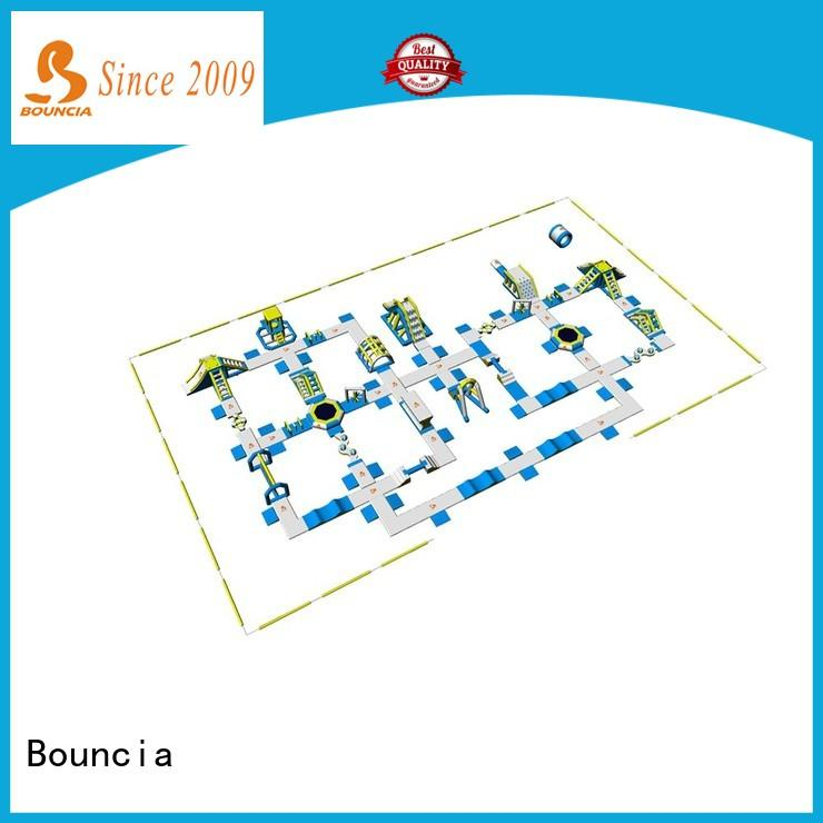Bouncia large outdoor inflatable water park manufacturer for outdoors