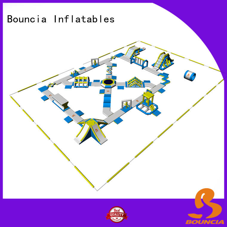 Bouncia splash best inflatable water park factory price for lake