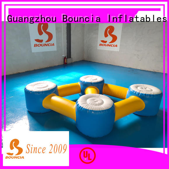 Bouncia climbing inflatable lake water park for kids