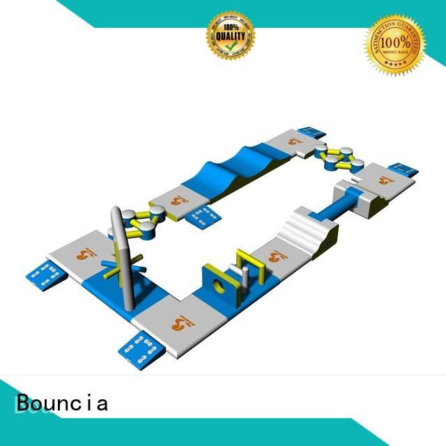 Custom water inflatable floating water park mini Bouncia