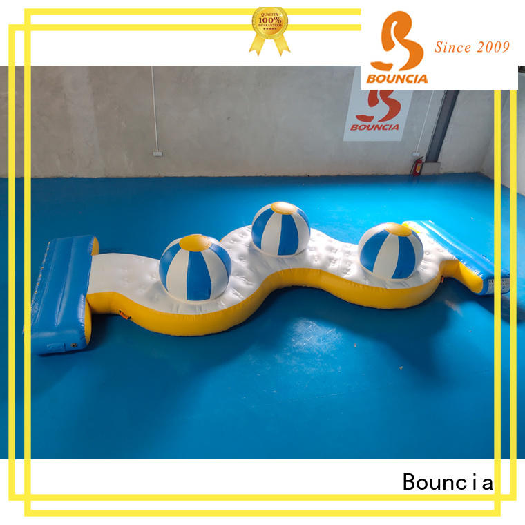 Bouncia beam inflatable course customized for outdoors