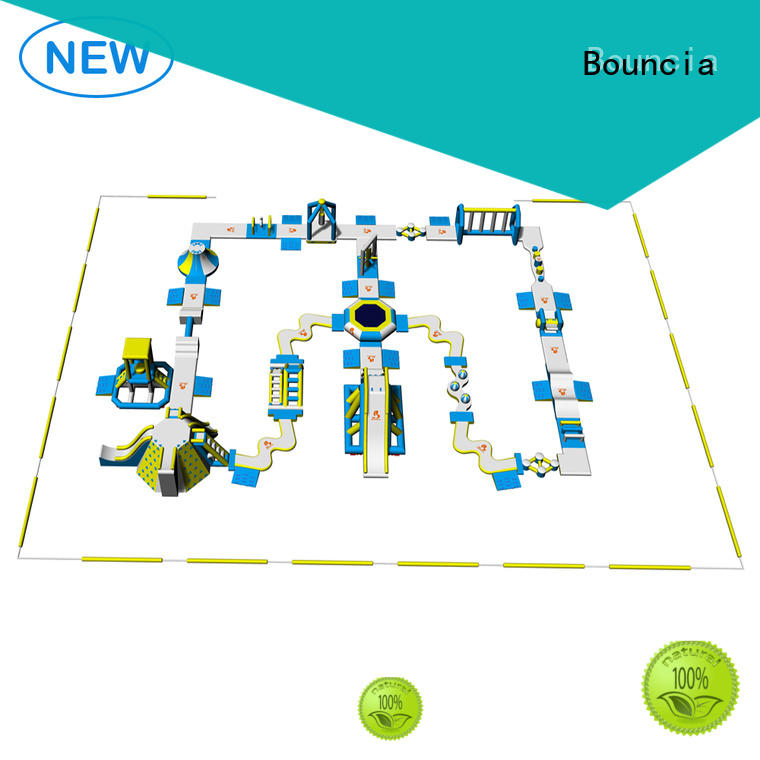 Custom sports inflatable blow up water park Bouncia games