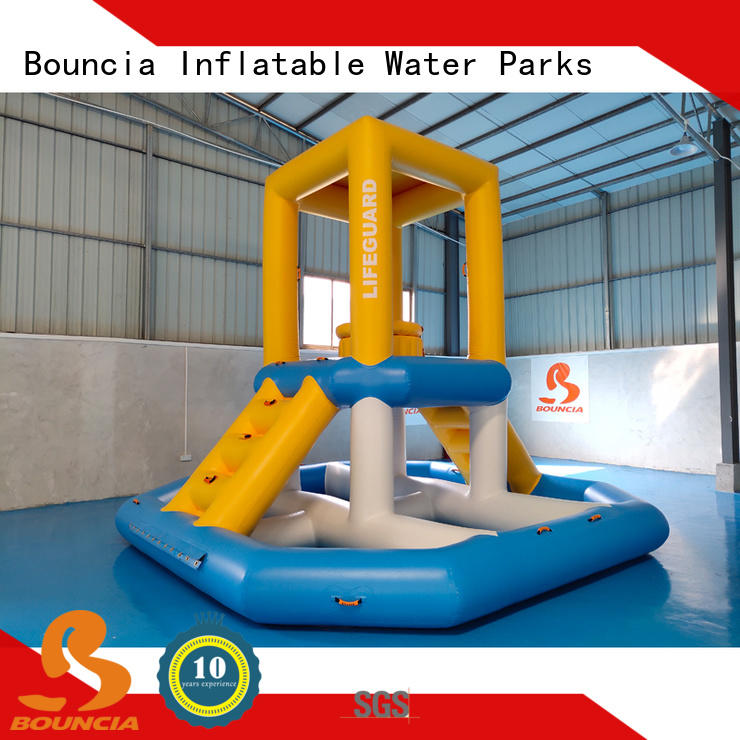 floating inflatable water park games trampoline Supply for adults
