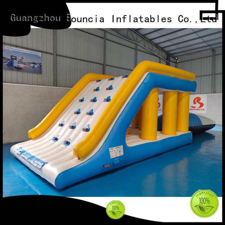Hot inflatable water games ramp Bouncia Brand