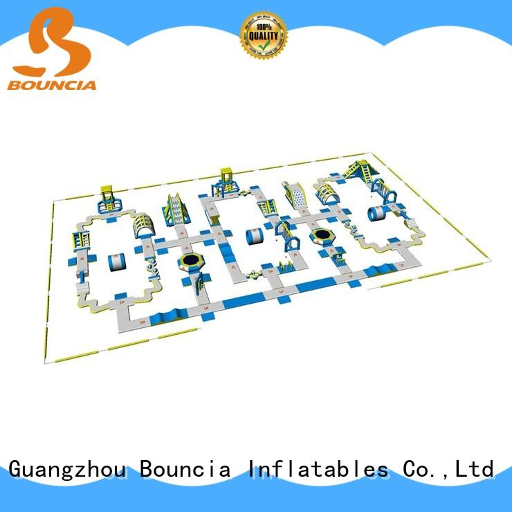Bouncia big outdoor inflatable water park customized for lake