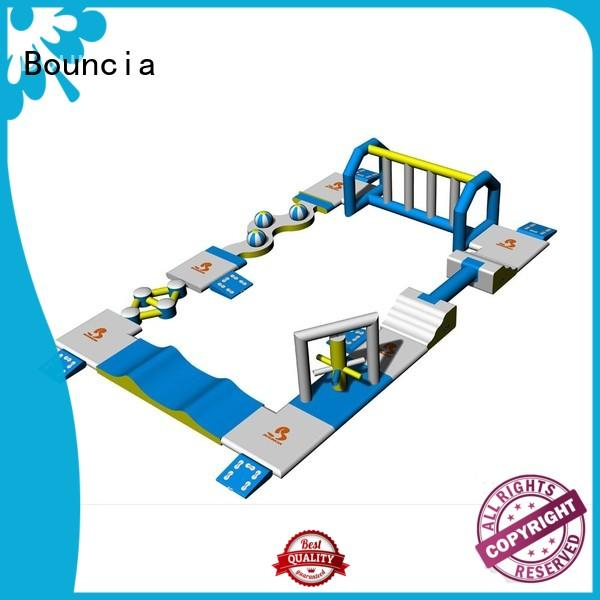 mini obstacle games Bouncia Brand inflatable floating water park