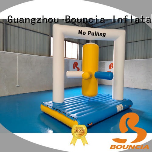 double inflatable obstacles one station directly sale for pool