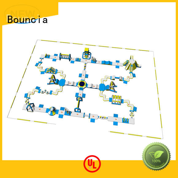 huge inflatable water park tuv for lake Bouncia