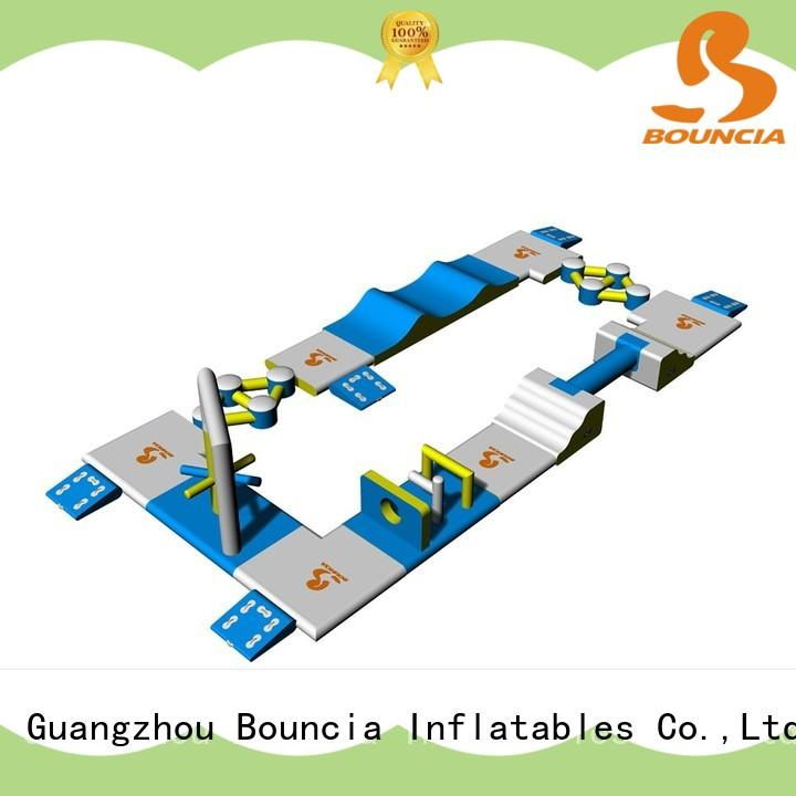 Bouncia commercial mini inflatable water park supplier for outdoors